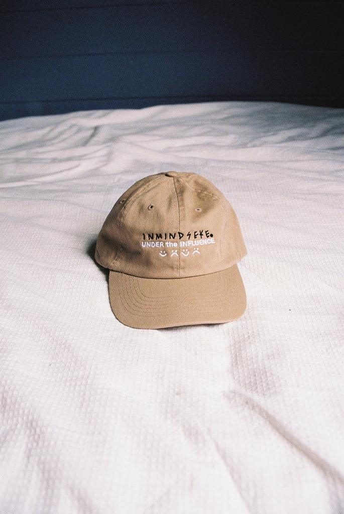 "UNDER the INFLUENCE cap ""tan"""