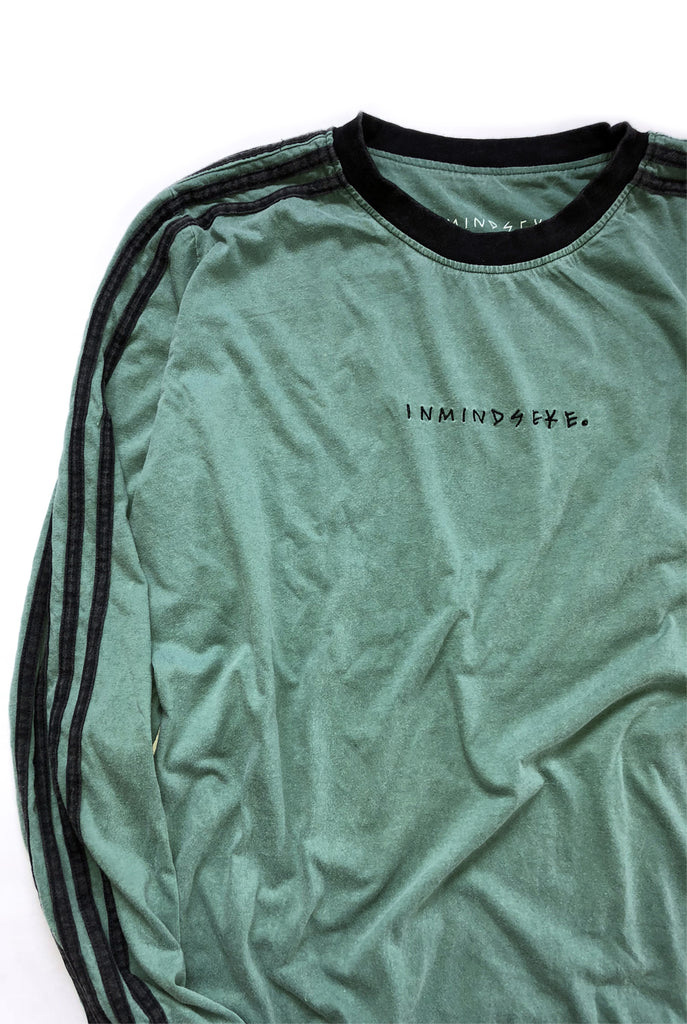 "LINES L/S tee ""washed forest green"""