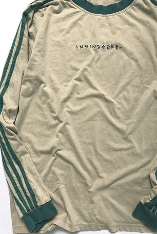"LINES L/S tee ""washed tan"""