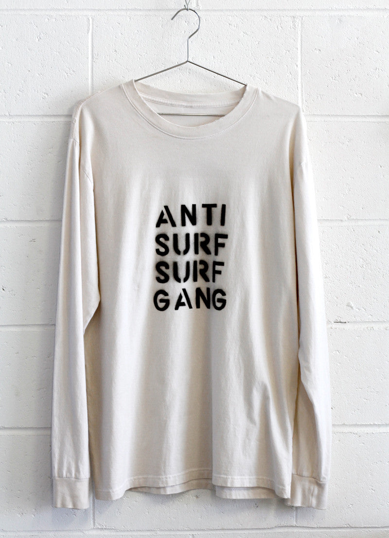 ANTI SURF SURF GANG L/S TEE / custom tee 1 of 1