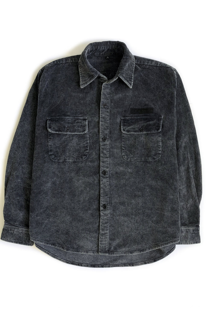 THE POWER CHORD shirt jacket / washed black
