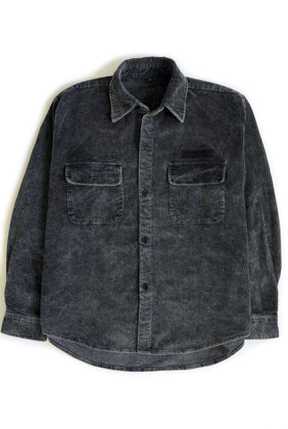 THE POWER CHORD shirt jacket / washed black PREORDER