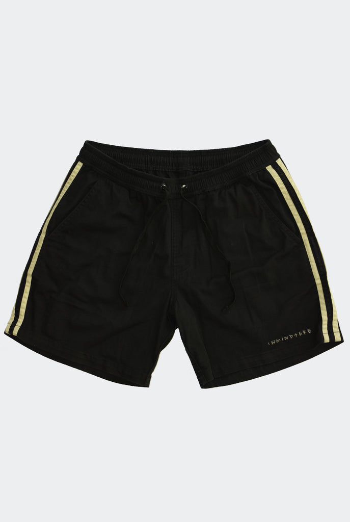 "BAD SPORT BEACH SHORTS ""BLACK AND TAN"