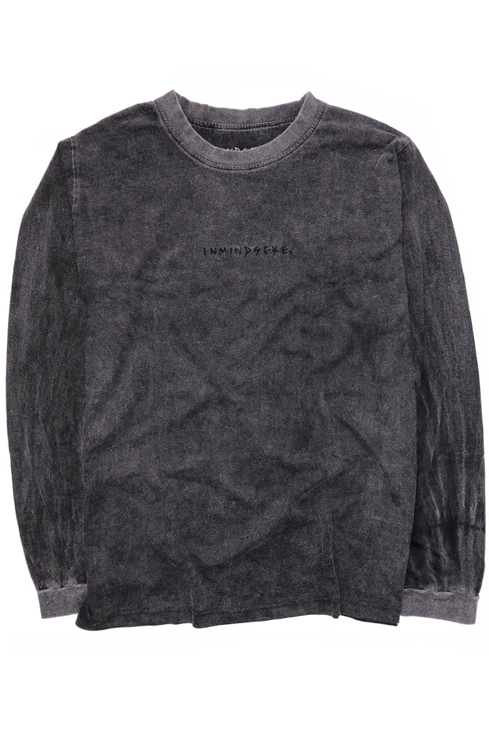 EASY L/S tee / washed black