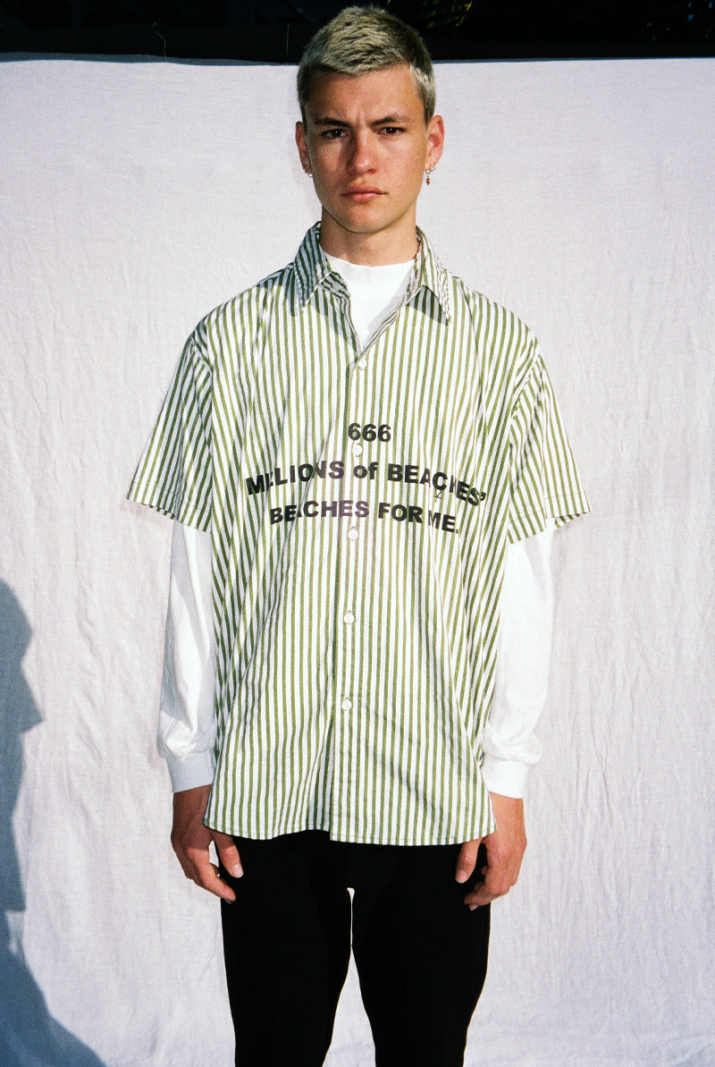 "BEACHES SHIRT / GREEN ""unisex"""