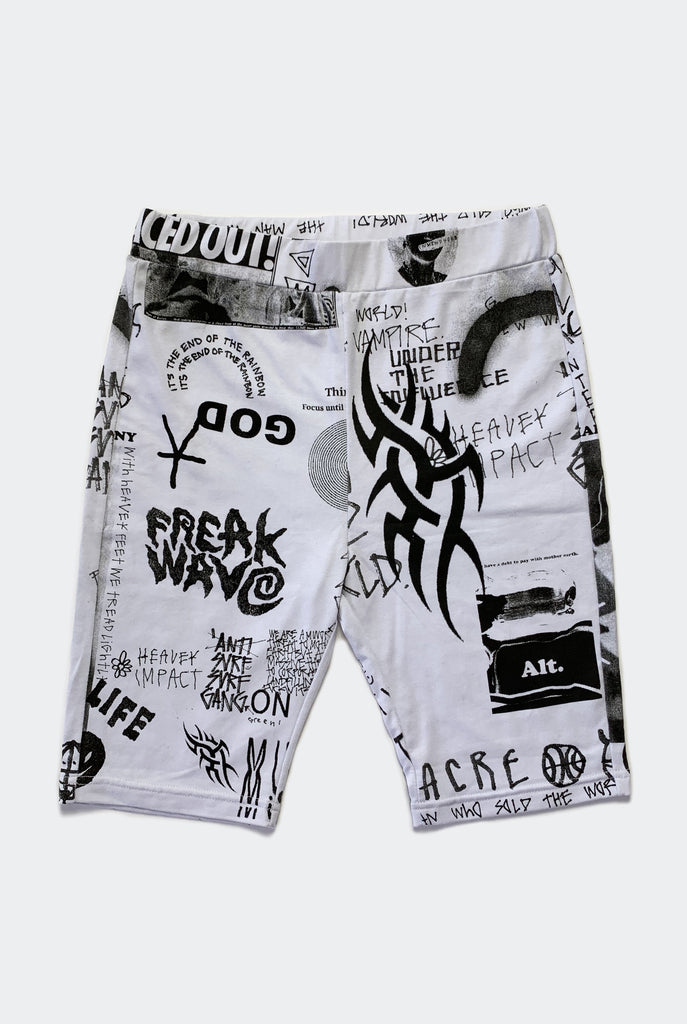 FREAK BIKE SHORT / WHITE PREORDER