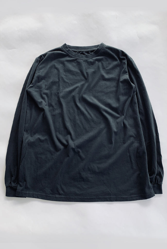 "EARTHCORE L/S TEE / FADED BLACK ""unisex"""