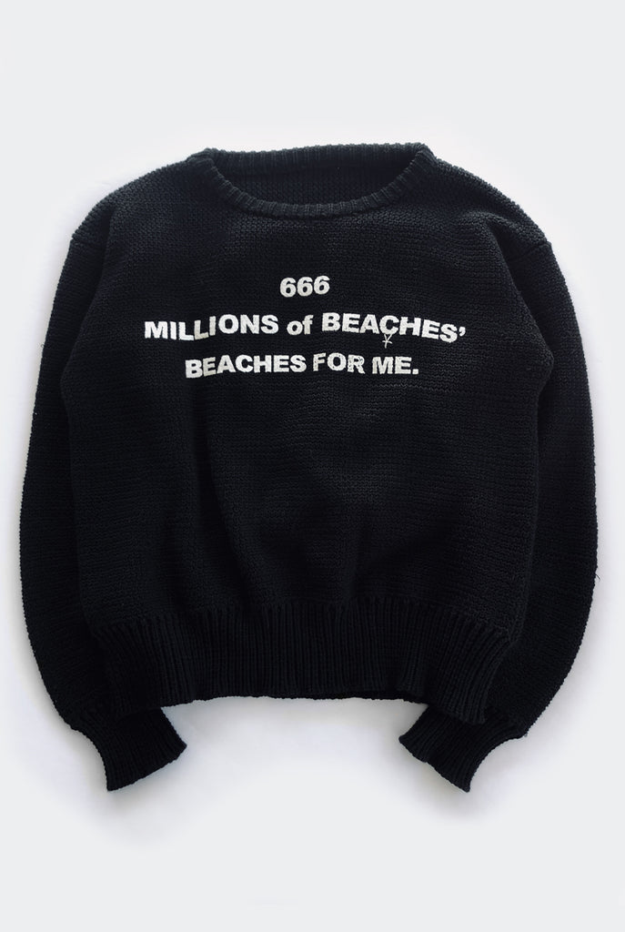 BEACHES sweater / black