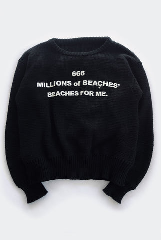 BEACHES sweater / black PREORDER