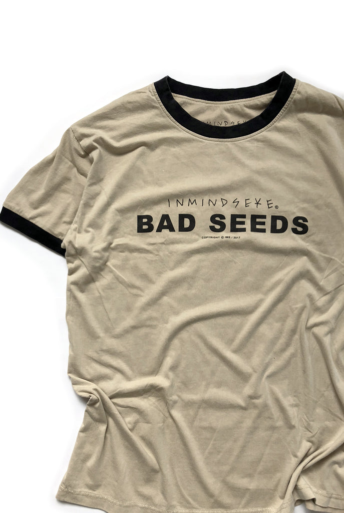 "BAD SEEDS ringer ""WASHED TAN"""