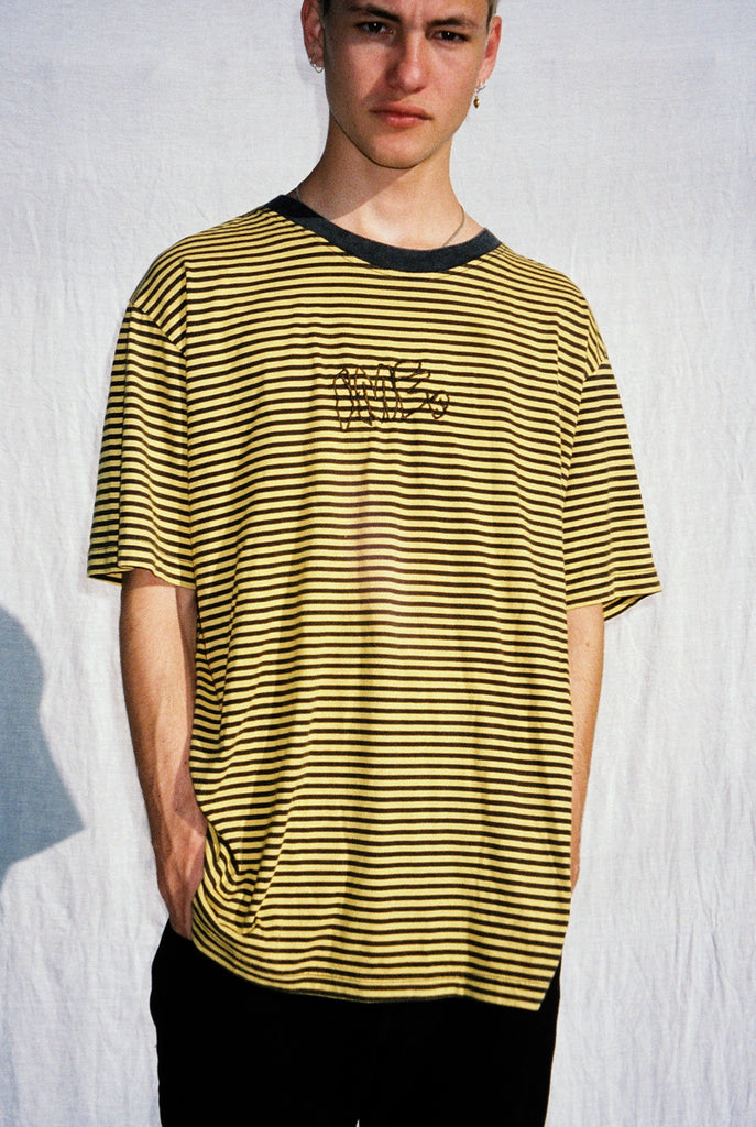 "BUBBLE TEE ""WASHED MUSTARD"""