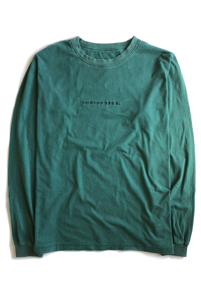 EASY LS tee / washed out green