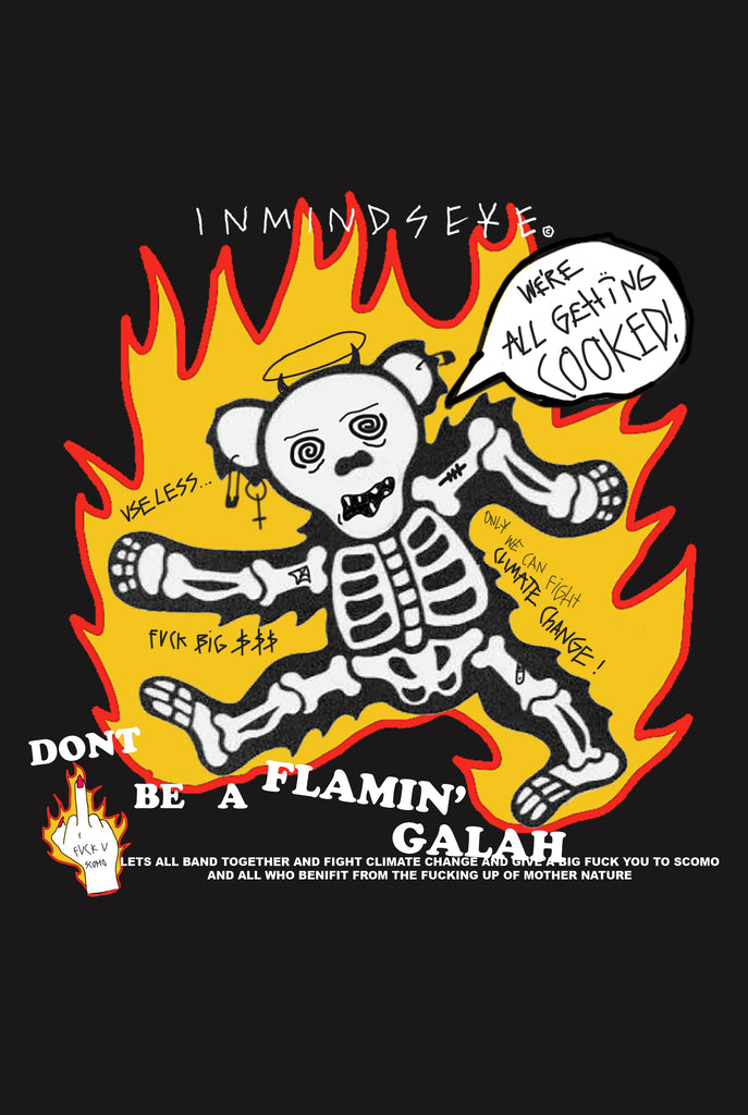 FLAMIN' GALAH OFFICIAL FIRE RELIEF TEE