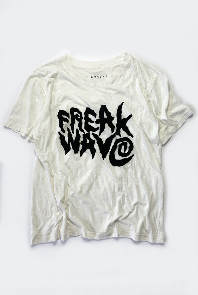 "FREAK WAVE TEE / WHITE ""unisex"""