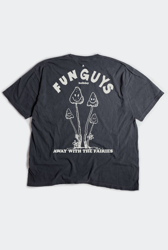 "FUN GUYS TEE / VINTAGE BLACK ""unisex"""