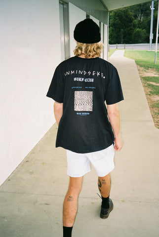 "BLOW OUT tee ""faded black"""