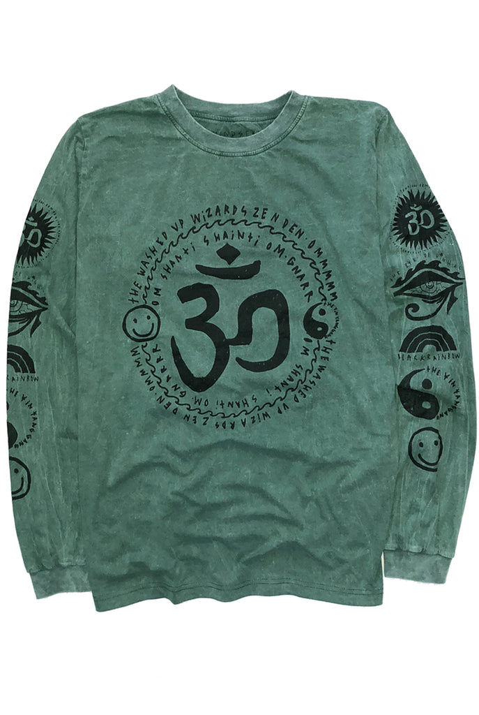 OM MY GOD tee / washed forest green
