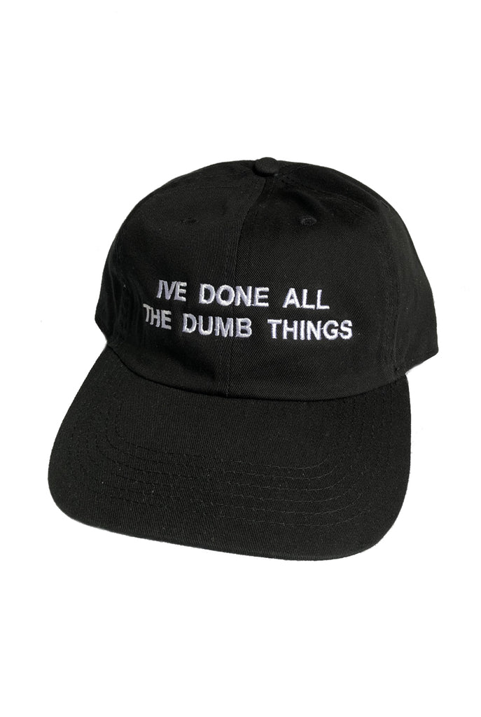 "DUMB THINGS cap ""black"""