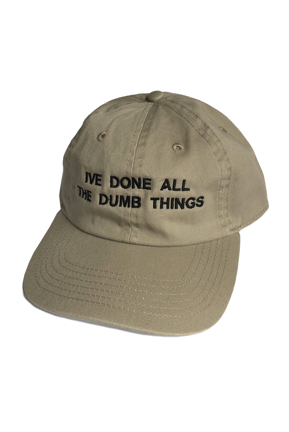 "DUMB THINGS cap ""tan"""
