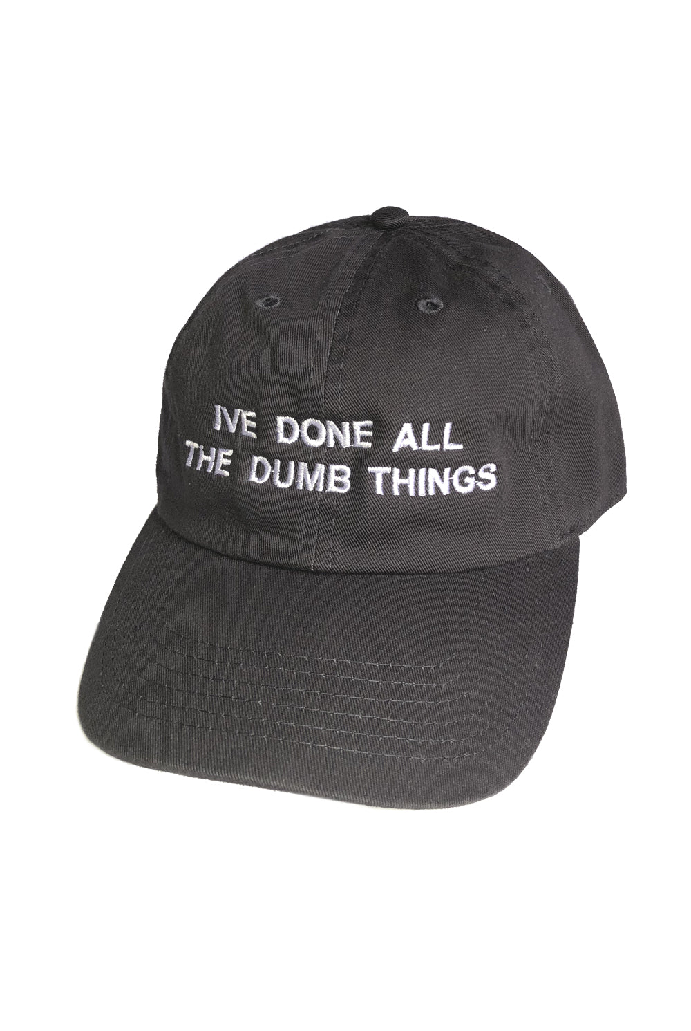 "DUMB THINGS cap ""charcoal"""