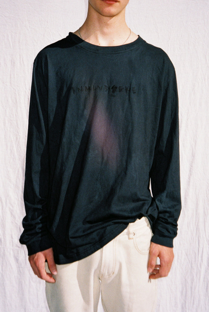 "HELP L/S TEE ""FADED BLACK"" PREORDER"