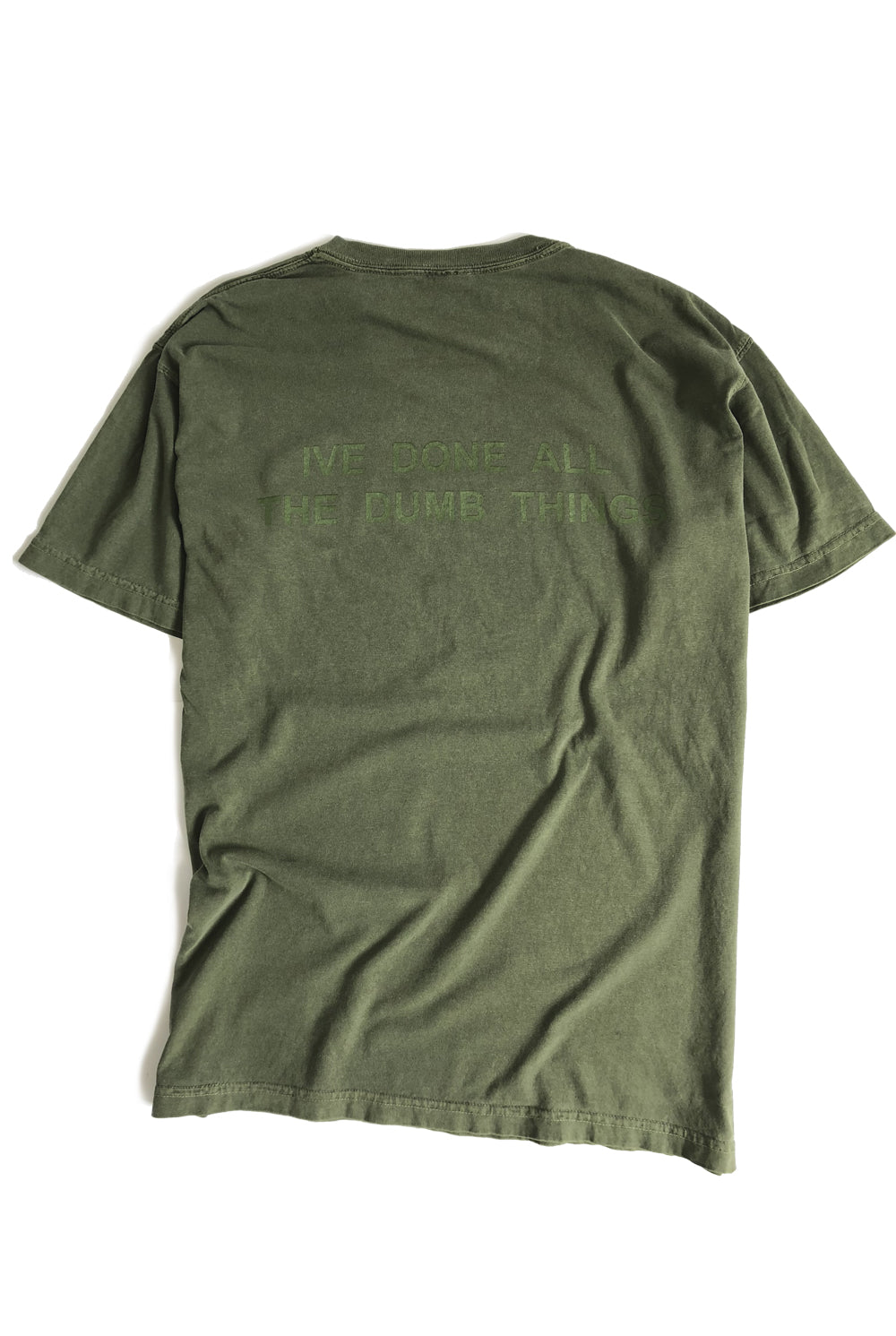 "ALL OF EM tee ""overdyed army"""
