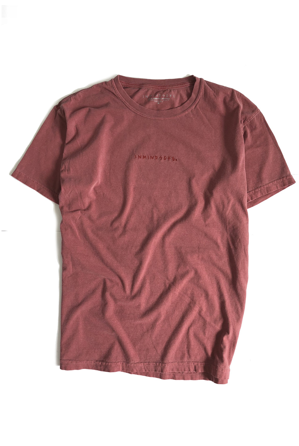 "ALL OF EM tee ""overdyed red"""