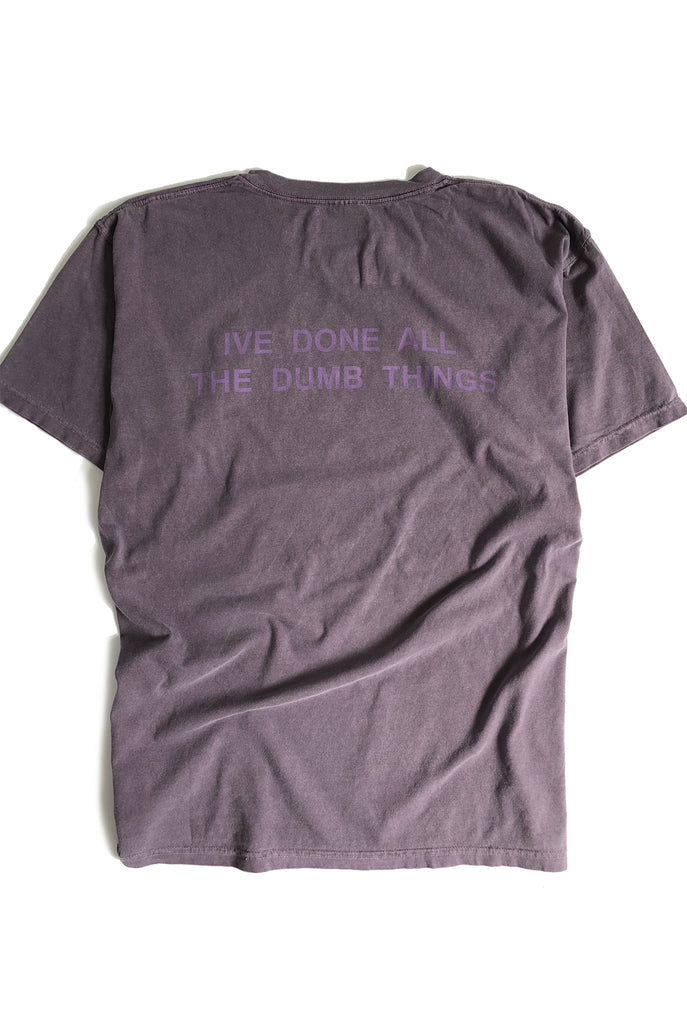 "ALL OF EM tee ""overdyed wine"""