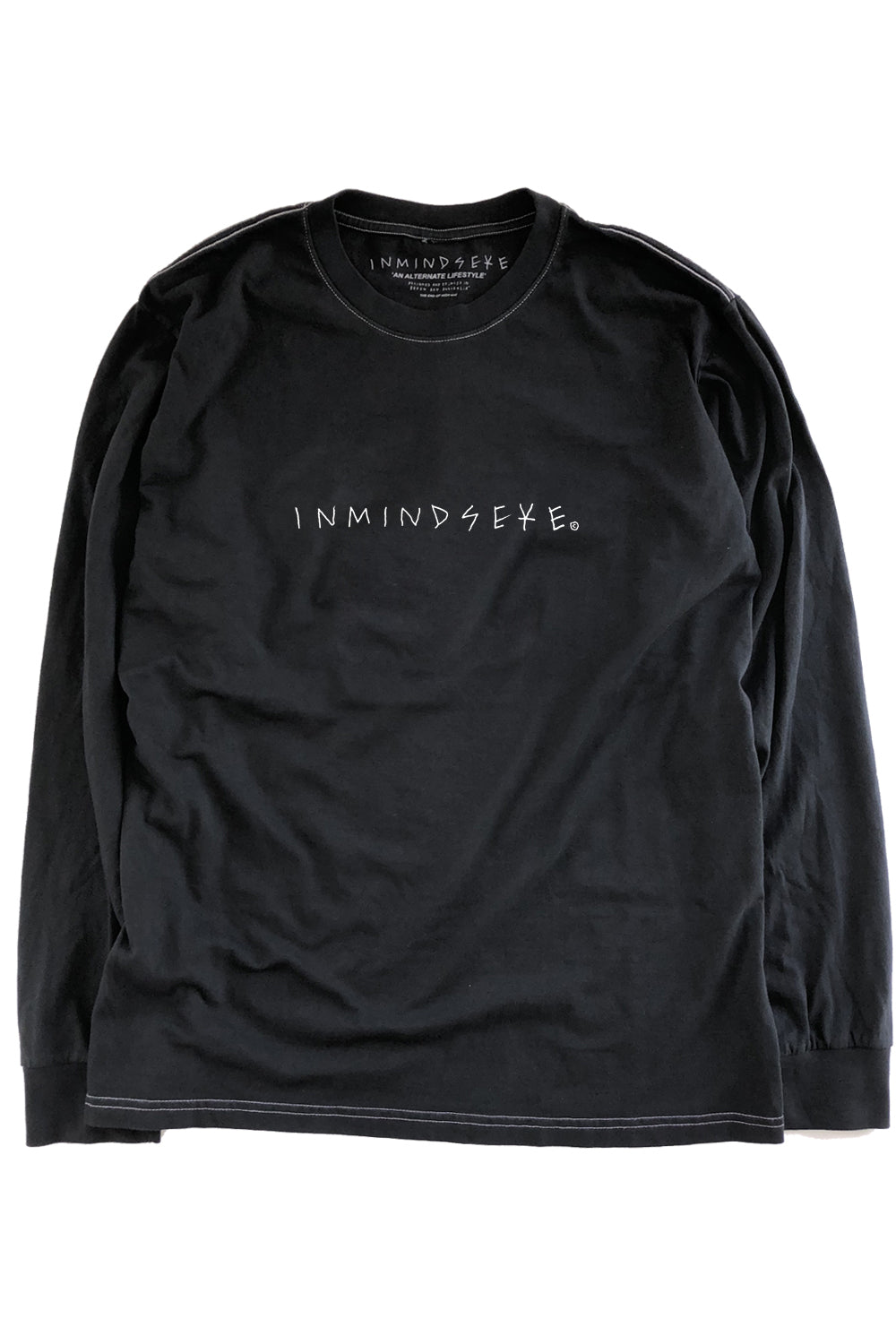 the BRANDED L/S tee / band tee black