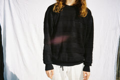 the LINES sweater / black