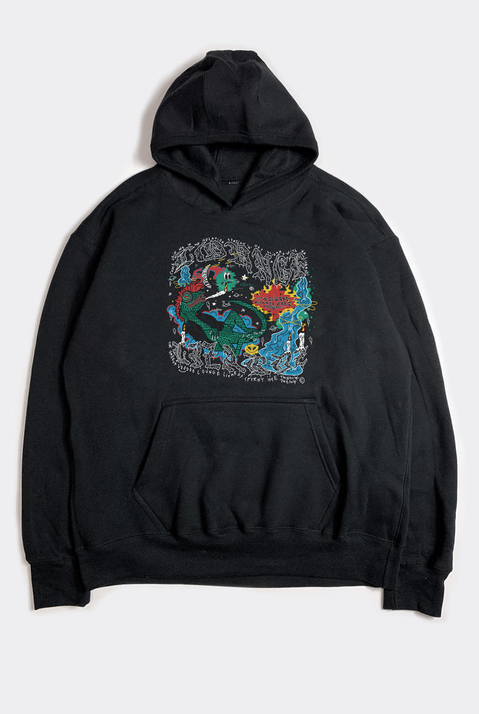 LOUNGE LIZARD HOOD / BLACK PRESALE