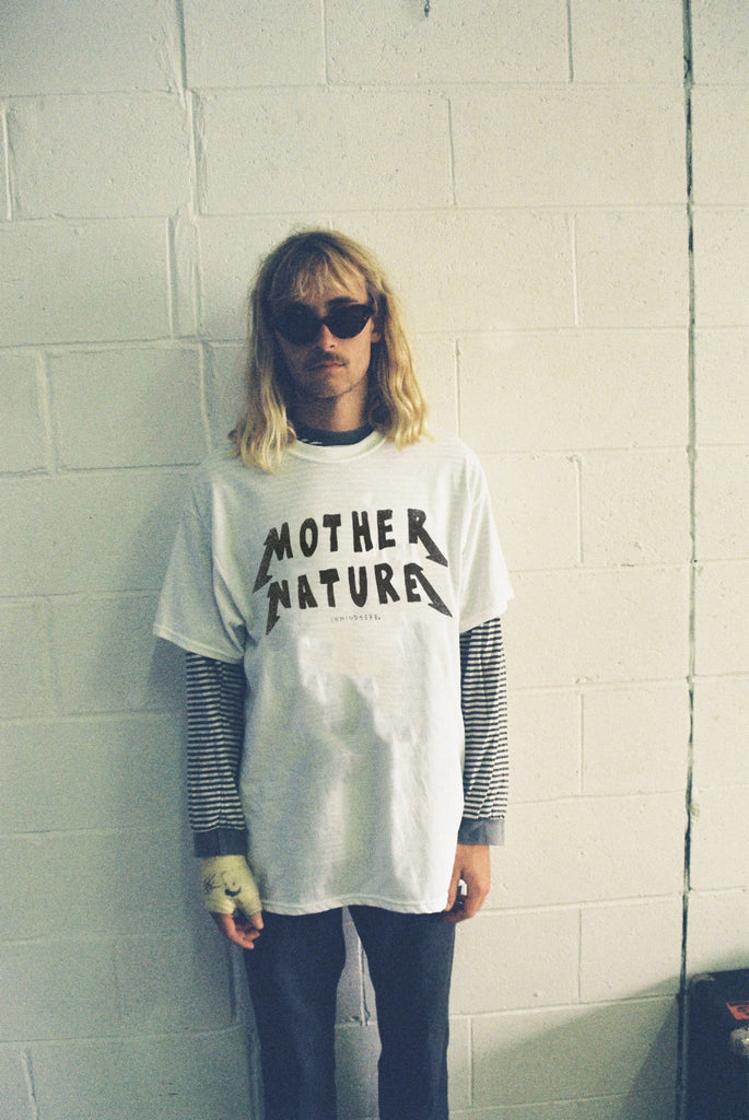 "MOTHER NATURE TEE / WHITE ""UNISEX"" PREORDER"