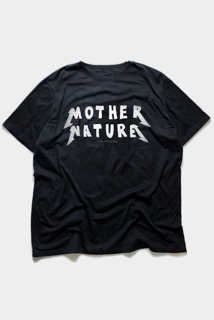 "MOTHER NATURE TEE / BLACK ""UNISEX"" PREORDER"