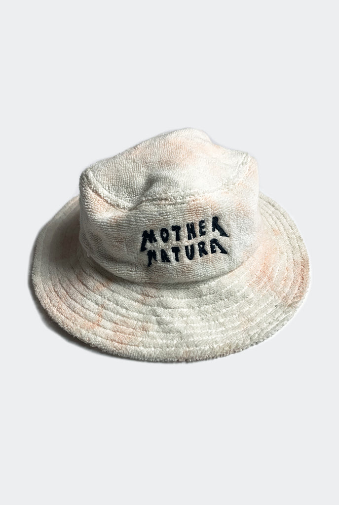 "MOTHER NATURE BUCKET HAT / PEACH ""UNISEX"""