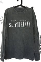 "surf nirvana long sleeve tee ""unisex"" acid black"