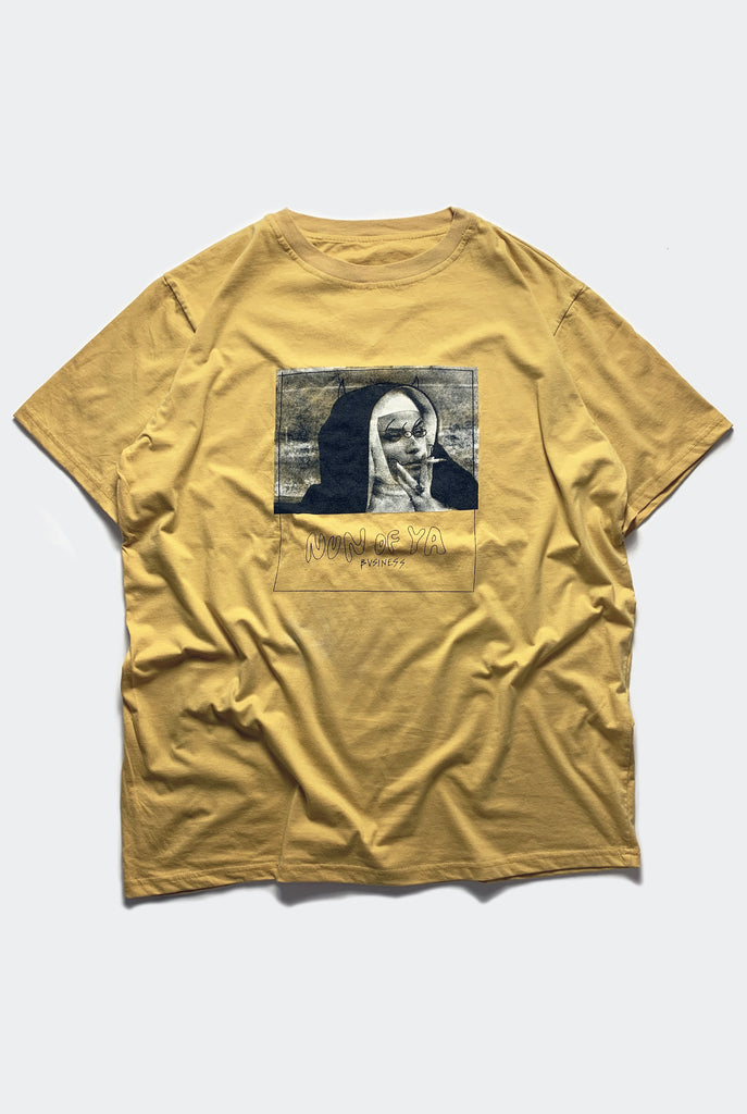 "NONE TEE / FADED MUSTARD ""unisex"" PREORDER"