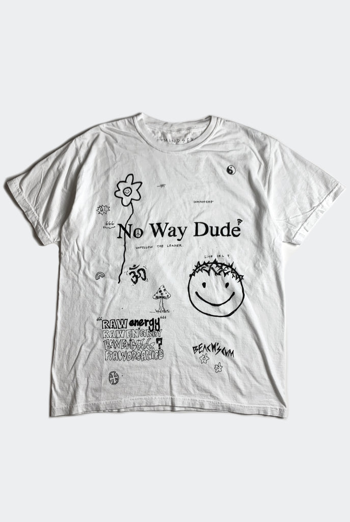 NO WAY DUDE TEE / WHITE