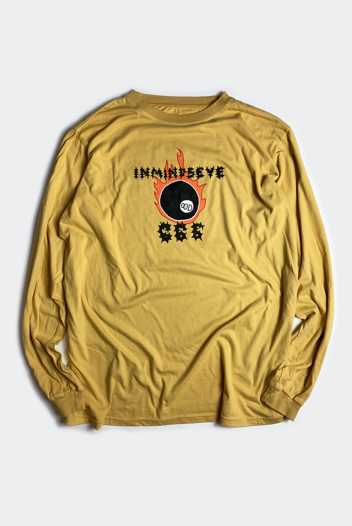"ODD BALL L/S TEE / WASHED MUSTARD ""unisex"""