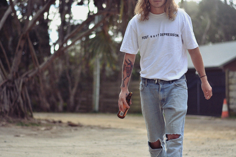 "post surf depression tee / white ""unisex"""