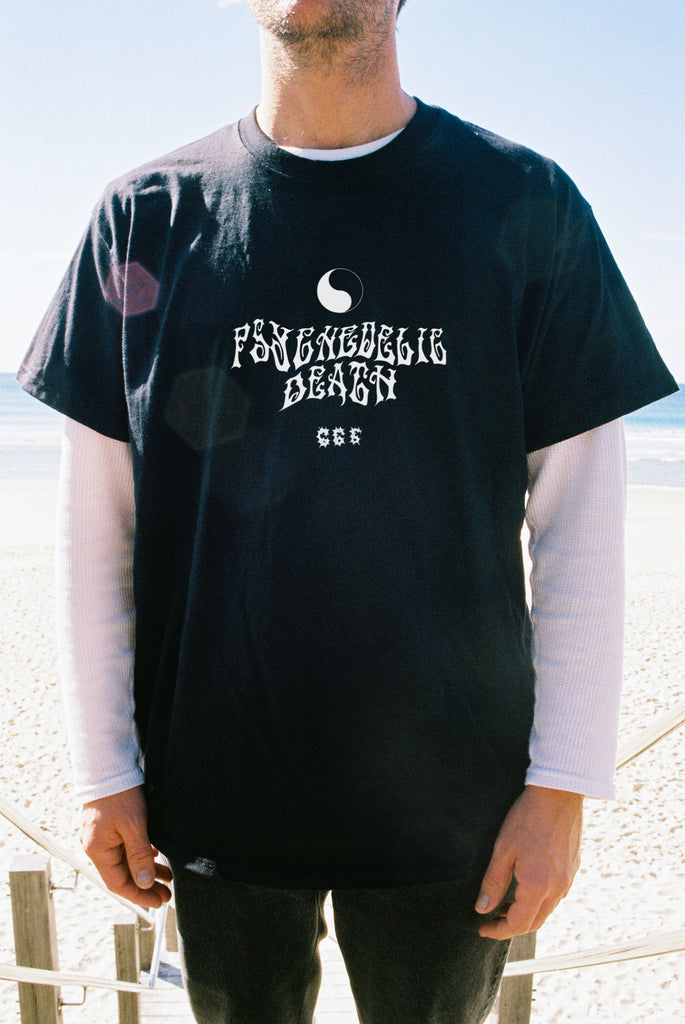 PSYCHE DEATH TEE / FADED BLACK PREORDER