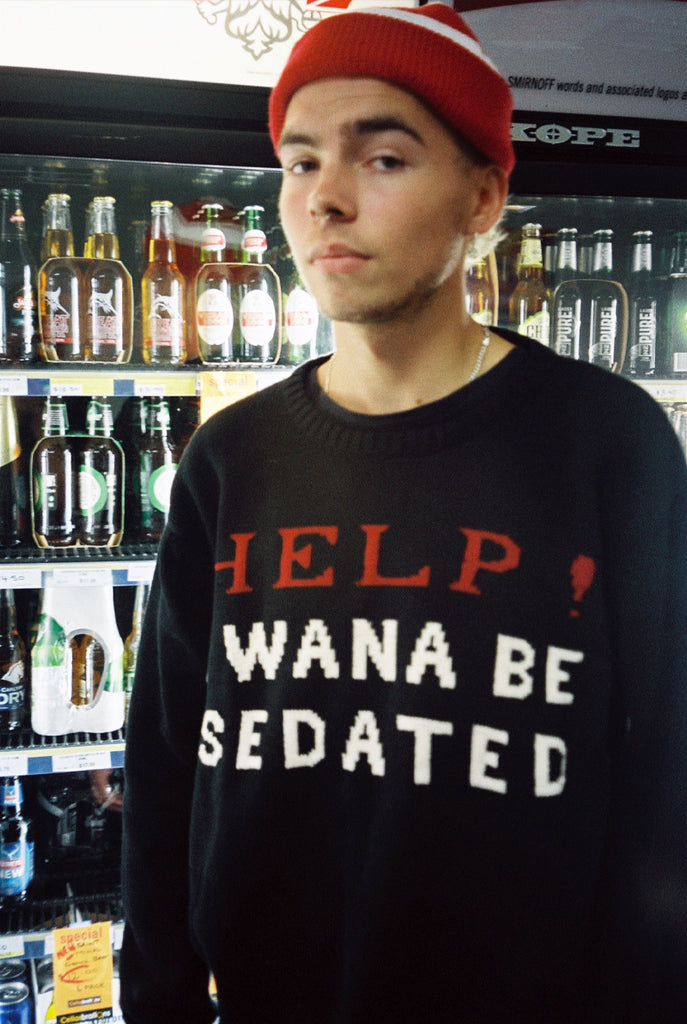 SEDATED sweater / black