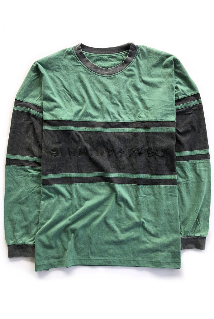 IME STRIPE 2.0 tee / washed forest green