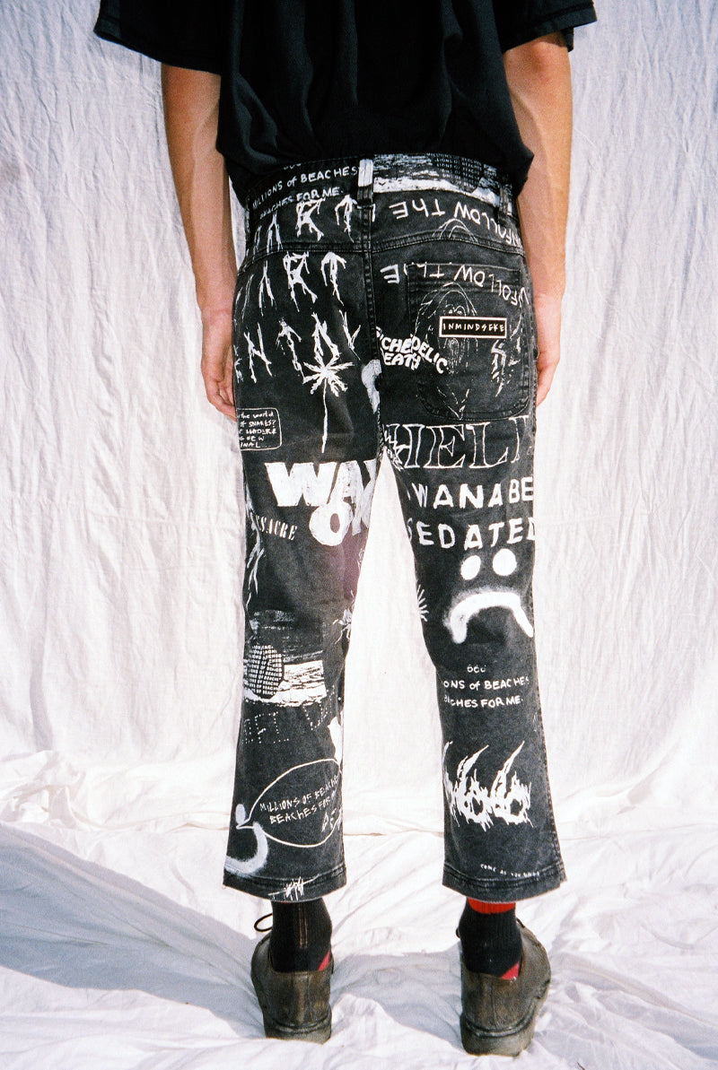 "SKETCHY PANT / WASHED BLACK ""unisex"""