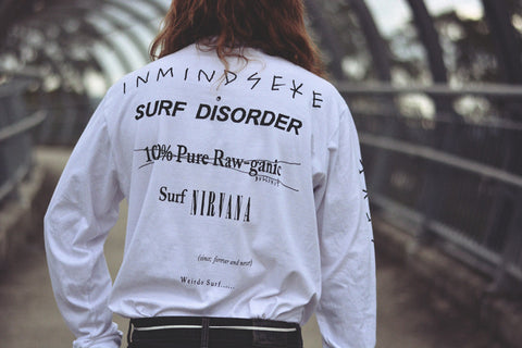 "surf nirvana long sleeve tee ""unisex"""