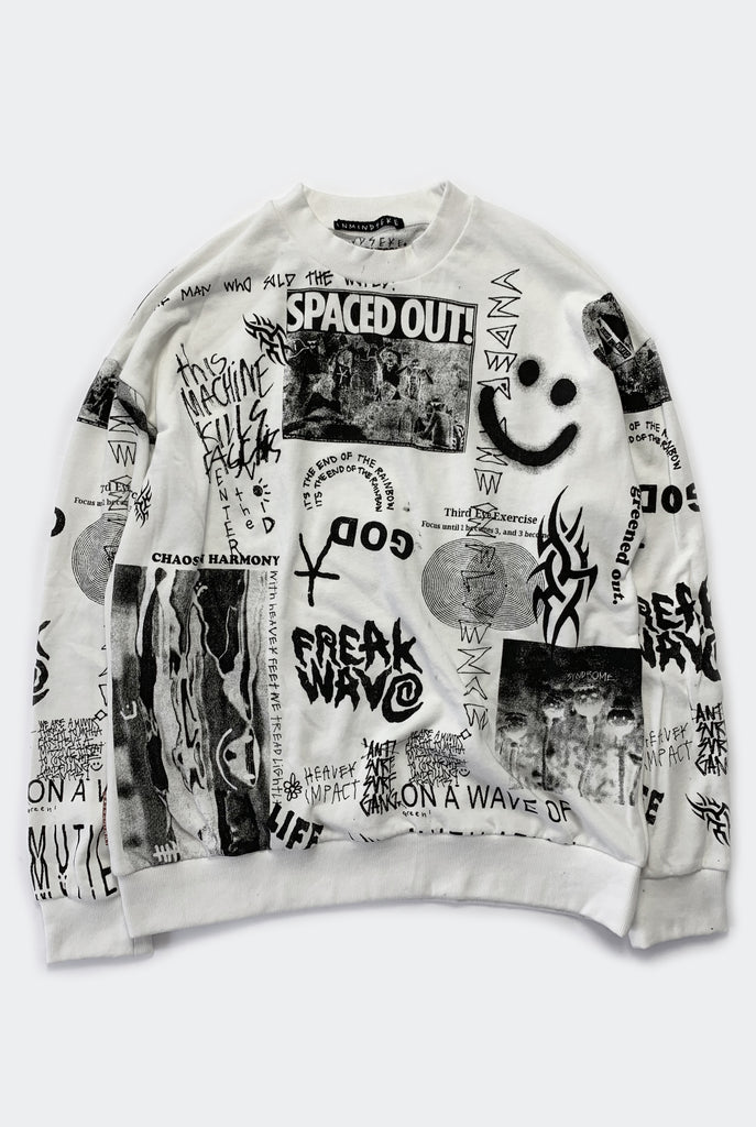 "SPACED OUT CREW / WHITE ""unisex"""