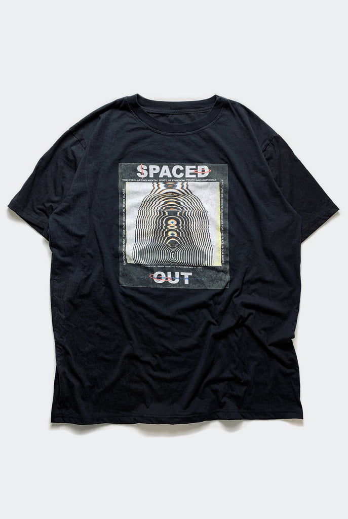 "SPACED OUT TEE / FADED BLACK ""unisex"" PREORDER"