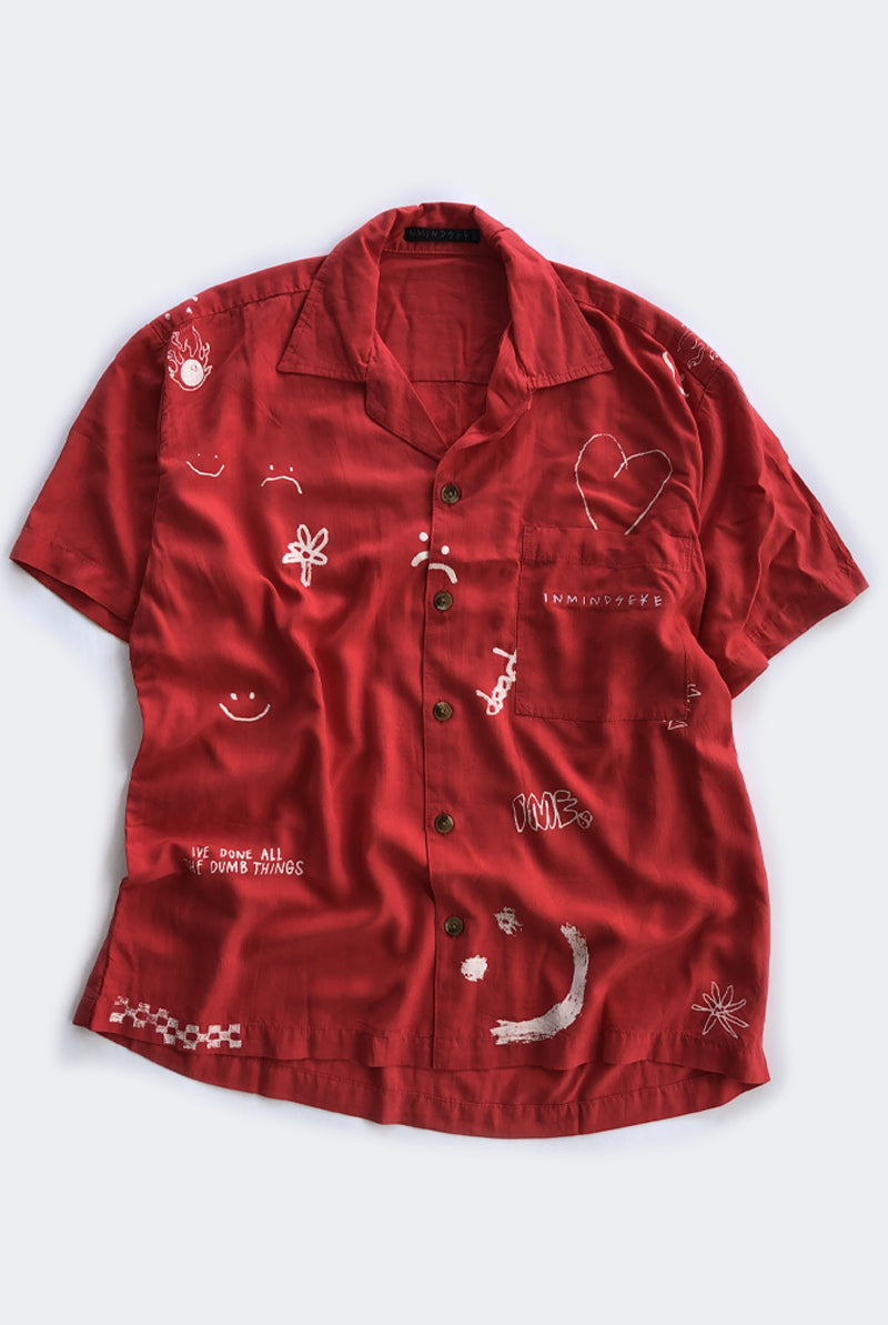 "STAYCAY BOWLO SHIRT ""RED"""
