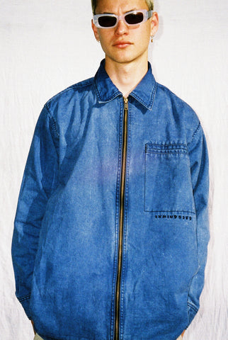 "SUPERNOVA COAT / WASHED BLUE ""unisex"""
