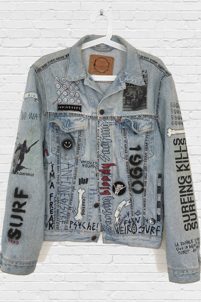 SURFING KILLS JACKET / custom jacket 1 of 1