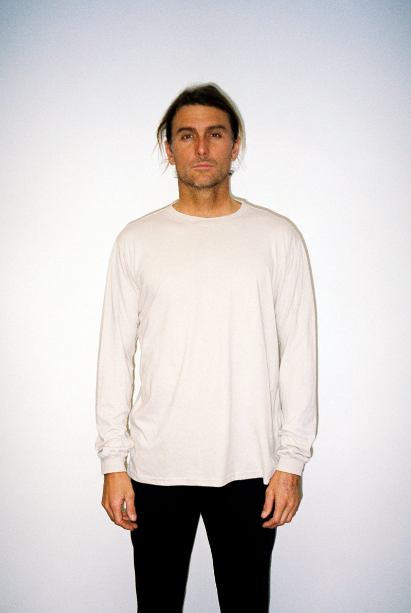 "EARTHCORE L/S TEE / WASHED TAN ""unisex"""